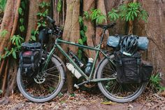 Surly Troll Bike Touring Set Up - Loaded with Carradice panniers on a Tubus rear rack and on Old Man Mountain front rack.