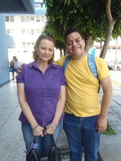 La gran actriz Patricia Frayssinet y Freddie Armando Romero. (2011)