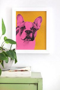 Make a Pop-Art picture of your dog: | 22 Ideas To Decorate Your House: Easy, Beautiful, And Cheap
