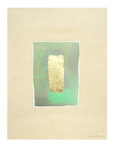 Original Modern Minimalist Shapes 11 x 14 Watercolor by printwork