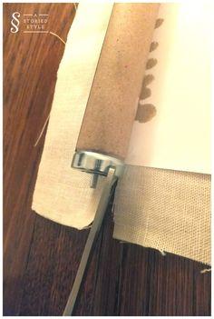stepbystep how to diy a fabric roller shade