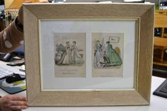 """Framed Pages """"The Newest French Fashions from The Young Englishwoman Periodical"""" Dated 1867 - Ready to Hang - 20.5"""" x 16.5"""""""