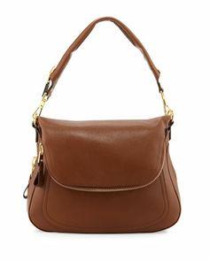 Jennifer Large Leather Shoulder Bag, Caramel by Tom Ford at Neiman Marcus.