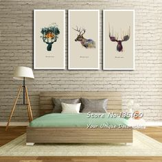 Abstract Watercolor Animal Deer Canvas Painting Large Wall Art Canvas Beautiful Spirit Wall Pictures Office Room Decor No Framed