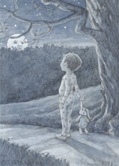 ACEO Limited Edition Giclee- Moon Boy