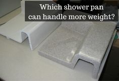 Would you like a shower pan which can handle more weight? Check out this article about 9 FAQ's about solid surface shower pans. One advantage they are much sturdier than a fiberglass pan. Budget Bathroom, Bathroom Wall Decor, Small Bathroom, Bedroom Decor, Bathroom Remodeling, Remodeling Ideas, Bathroom Ideas, Shower Pan, Shower Kits