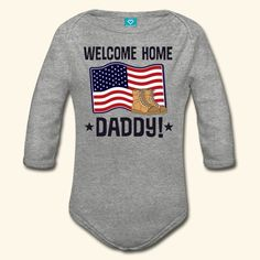 inktastic Deployed for Daddy Military Support Long Sleeve Creeper