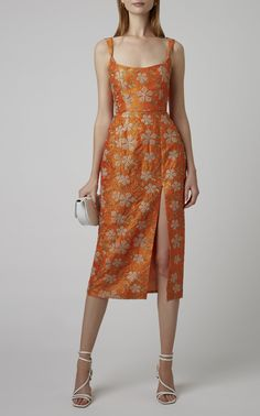 Exclusive Kanara Embroidered Silk Midi Dress by Markarian Casual Summer Dresses, Modest Dresses, Pretty Dresses, Beautiful Dresses, Short Dresses, Dresses For Work, Midi Dresses, Dress Casual, Teen Dresses