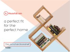 Books are your gateways to worlds you haven't been yet, give them a perfect home with an armchair bookshelf. Buy now http://www.housefull.com/products/thearmchair-bookshelf-38316