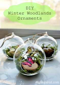 Winter Woodlands Ornaments by DIY Inspired