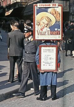 Colour photographs of occupied Paris - Propaganda, Look Familiar America, Your Next Door Neighbor May Be The 4th Reich's Enemy, Inform Your Government Officials of Specious Actives of Your Neighbors and Friends As they Most Likely are Enemies of The State.