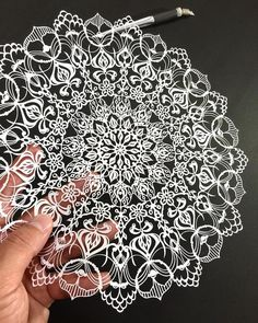 All photos ht: Japanese artist Mr. Riu takes paper cutting to an intricate extreme, crafting mandalas and elaborate figures with a precision functi Kirigami, 3d Paper Crafts, Diy Paper, Papercut Art, Folded Book Art, Book Folding, Book Sculpture, Paper Sculptures, Paper Artwork