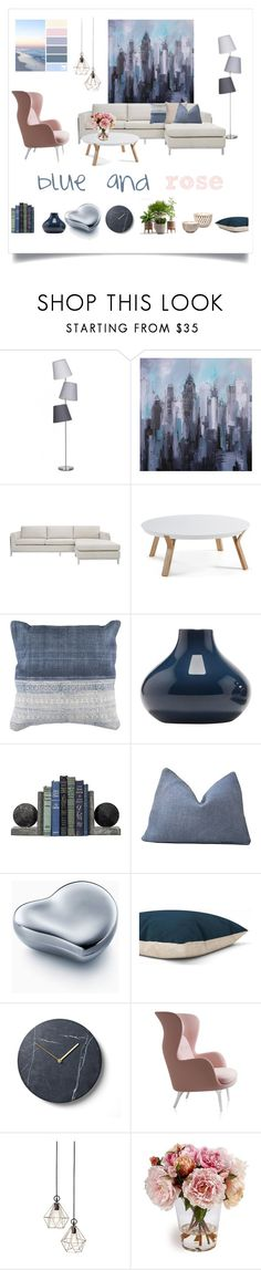"""blue and rose"" by levai-magdolna ❤ liked on Polyvore featuring interior, interiors, interior design, home, home decor, interior decorating, Safavieh, BoConcept, Elsa Peretti and Bambeco"