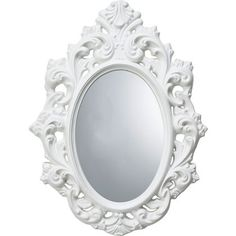 Home of Style Rococco Oval Mirror - White at Homebase -- Be inspired and make your house a home. Buy now. Oval Mirror, Jewelry Holder, Clock, Pure Products, Wallpaper, House, Stuff To Buy, Vintage, Mirrors