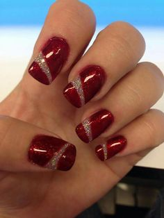 Most popular funky gel nails designs Ideas Christmas Gel Nails, Holiday Nails, Fancy Nails, Red Nails, Nagellack Design, Gel Nail Art Designs, Best Acrylic Nails, Stylish Nails, Gorgeous Nails
