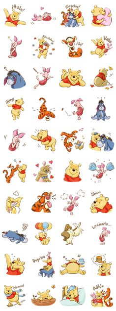 Introducing an all new Winnie the Pooh sticker set! All your favorite forest friends including Tigger, Eeeyore, and Piglet are here to fill your chats with their adorable charm! Winnie The Pooh Tattoos, Winnie The Pooh Drawing, Winnie The Pooh Pictures, Cute Winnie The Pooh, Winne The Pooh, Winnie The Pooh Quotes, Winnie The Pooh Friends, Tigger And Pooh, Disney Tattoos
