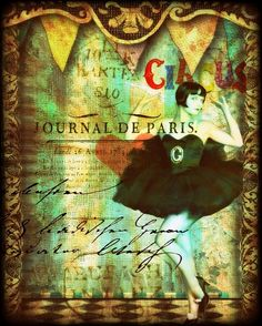Tales From The Circus II - print of an original mixed media collage - Edwardian woman, flapper, sexy, pop art Old Circus, Circus Art, Night Circus, Circus Theme, Vintage Circus Posters, Halloween Circus, Circo Vintage, Water For Elephants, Oui Oui