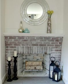 red brick fireplace makeover | Wife in Progress