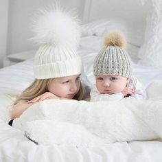Mother Child Baby Toddler Kids Girls Boys Warm Hat Winter Beanie Knitted Cap New Crochet Baby Hats, Baby Knitting, Knitted Hats, Baby Beanie Hats, Knit Beanie Hat, Mother And Baby, Mom And Baby, Baby Delivery, Newborn Fashion