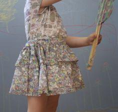 Pigs & Roses. Skirt. Miniature.