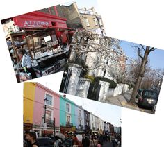 Portobello Road Market in Notting Hill, one of the sights covered in Stephanie Levy's London market tour.