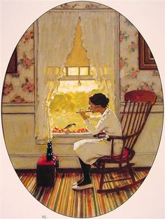 Willie was Different by Norman Rockwell. Regionalism. genre painting