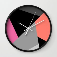Mix colors wall clock,circle children room wall clock,baby room wall clock,black and white,modern wall clock,essential wall clock by forkidsfun on Etsy