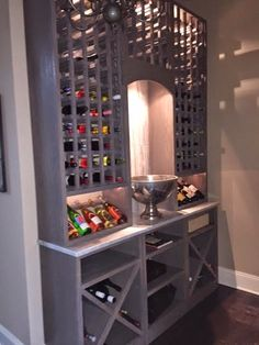 Life in the Barbie Dream House: Our DIY Wine Cellar with Carrara Marble!