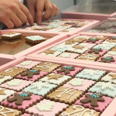 Our busy bees patiently packing our Gingerbread Advent Calendars. Now available in the Parlour and online! #gingerbread #adventcalendar #countdowntochristmas #peggyporschen