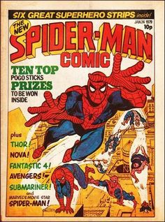 Marvel UK's Spider-Man Comic, from 1979.  #MarvelUK #SpiderMan