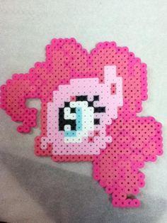 -Perler- Pinkie Pie Head by OtakuLuka.deviantart.com on @deviantART