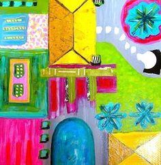 "Garden Plan by Melanie Birk Acrylic ~ 12"" x 12""-Colorful Contemporary Abstract Art Painting ""Garden Plan"" by Santa Fe Contemporary Artist Melanie Birk #contemporarygardens"