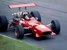 Chris Amon, Ferrari 312, #9, (RET-accident) Italian GP, Monza, 1968.
