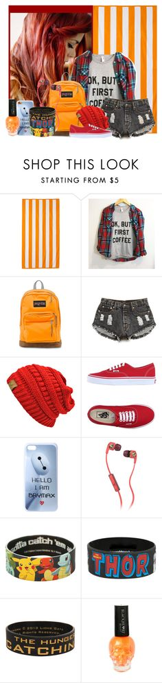 """ORANGE CONTEST"" by bvbarmy-jaseyrae ❤ liked on Polyvore featuring DwellStudio, JanSport, Forever 21, Vans, Disney and Skullcandy"
