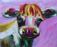 'Molly' is a fun take on the local calf born this spring. Bird Artists, Irish Landscape, Irish Art, Acrylic Art, Large Art, Fine Art Gallery, Yellow Flowers, Pet Birds, Watercolor Art