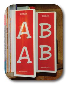 Fiction Shelf Signs - Fiction Shelf Markers | All your Library Signange needs available from LibrarySkills.com