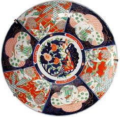 Very Large Antique 19th Century Japanese Pottery Imari Charger