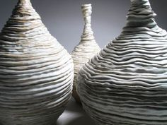 Linda Dangoor | White Mountains - 2005.  Stoneware with mat glaze and oxides