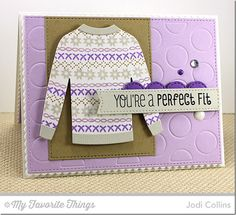 Cozy Greetings, Cozy Mittens, Blueprints 20 Die-namics, Comfy Sweater Die-namics, Jumbo Dot Cover-Up Die-namics - Jodi Collins #mftstamps
