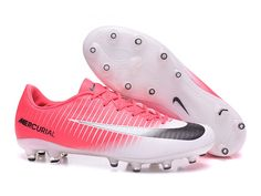 NIke Mercurial Vapor Superfly AG Pink & White Soccer Cleats