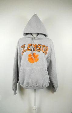 2633248d5 50% SUMMER SALE Unisex Vintage Clemson Tigers Gray Orange Russell Athletic  Minimal Thick Long Sleeve
