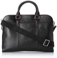 Amazon.com: Fossil Mercer Top Zip Workbag, Black, One Size: Clothing