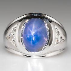 Men's Blue Star Sapphire Ring   mens-star-sapphire-ring-hh509e.jpg