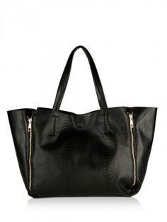KOOVS Textured Double Zip Large Tote Bag Handbags Online Shopping b11bed11369b0