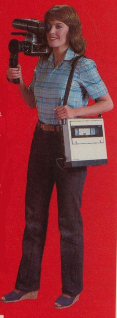VHS -- What they aren't showing is the BATTERY PACK that you wore strapped around your waist.