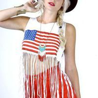 America the Beautiful Fringe Tank - Skinny Bitch Apparel Junior Outfits, Cute Outfits, Fringe Tank, American Girl, American Flag, Vintage Tops, Diy Clothes, My Outfit, Spring Summer Fashion