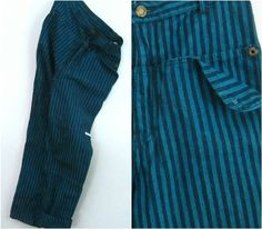 Striped Denim Jeans Vintage 1980s Gitano High by rileybellavintage, $35.00
