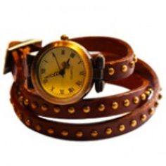 Audrey Wrap Watch Leather Bracelet Choco