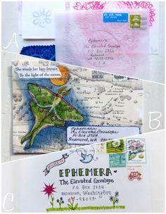 Mail Art. elevated #envelope. ephemera blog  For handmade greeting cards visit me at My Personal blog: http://stampingwithbibiana.blogspot.com/
