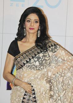 Sridevi.  Loved her sari at Zee Cine 2013